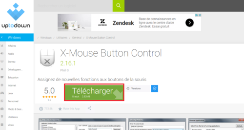 installer x mouse souris ergonomique